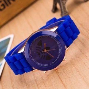 Unisex Royal Blue Trefoil Sports Fashion Watch